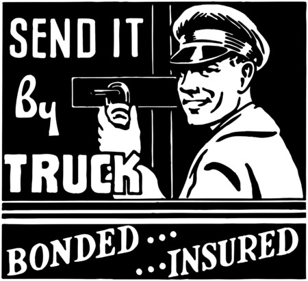 moving van: Send It By Truck Illustration