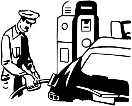 serviceman: Serviceman Filling Car