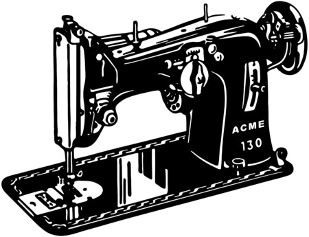 darning: Sewing Machine Illustration