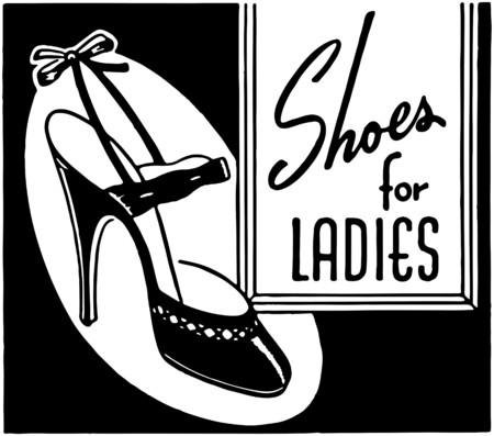 shoes vector: Shoes For Ladies Illustration
