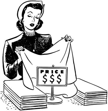 homemakers: Shopping For Linens Illustration