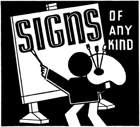 drafting table: Signs Of Any Kind