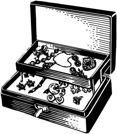 joyas de plata: Caja de joyer�a de plata Vectores