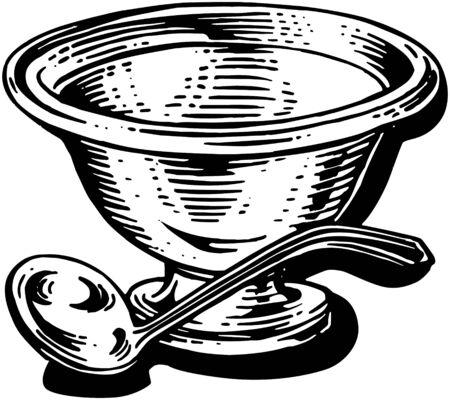 Silver Soup Tureen Çizim