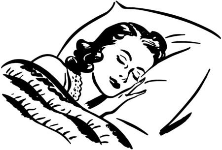 vintage lady: Slapende vrouw