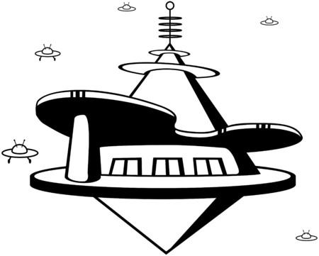 Space Port Vector