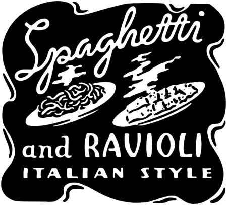 Spaghetti And Ravioli Vector