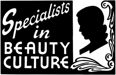 美容文化 2 のスペシャ リスト  イラスト・ベクター素材
