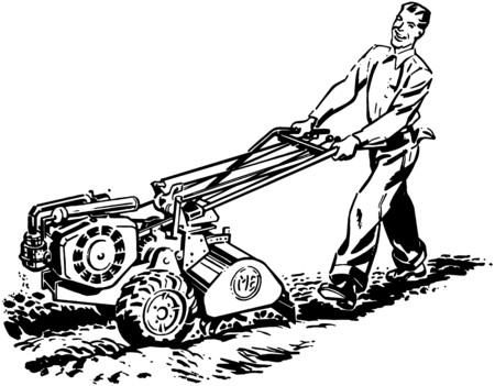 laborers: Man With Roto Tiller