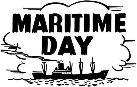 Maritime Day Stock Illustratie