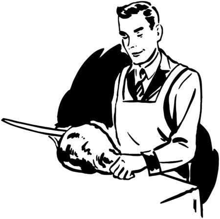 trinchante: Carver Carne Vectores