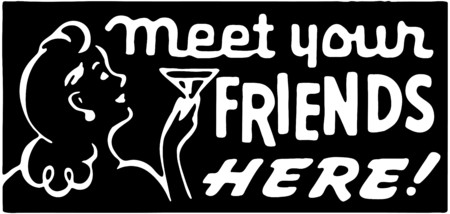 Meet Your Friends Here Illustration