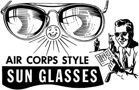 headings: Mens Air Corps Sunglasses Illustration