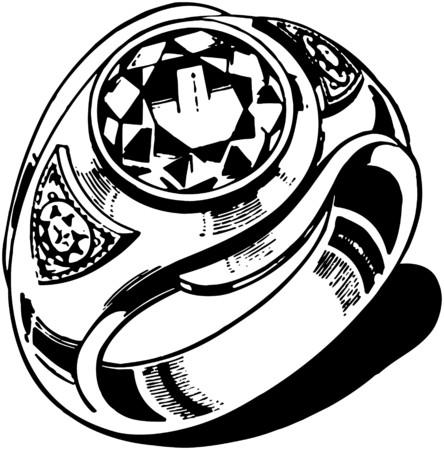 mens: Mens Ring Illustration
