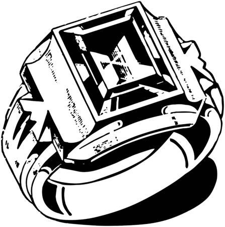 mens: Mens Stone Ring Illustration