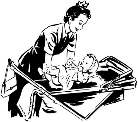 homemakers: Mom Putting Baby In Pram