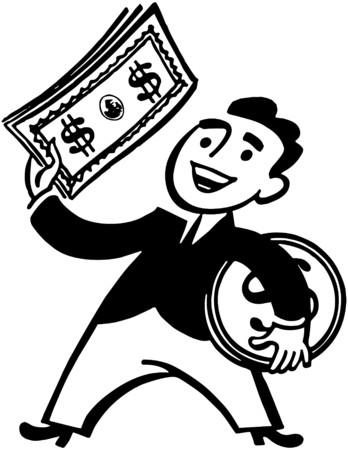 geld: Geld Man Stock Illustratie