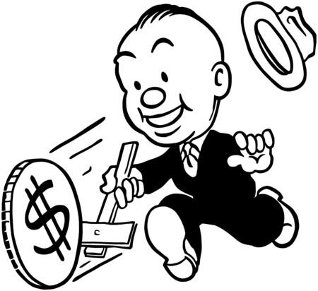 geld: Money Wheel Stock Illustratie