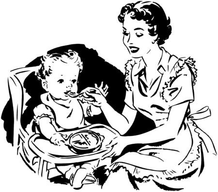 baby moeder: Voeden van de moeder van de baby