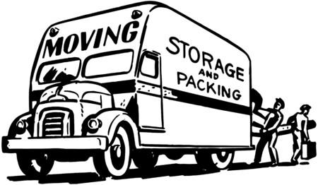 ruchome: Przeprowadzka przechowywania i opakowań Ilustracja