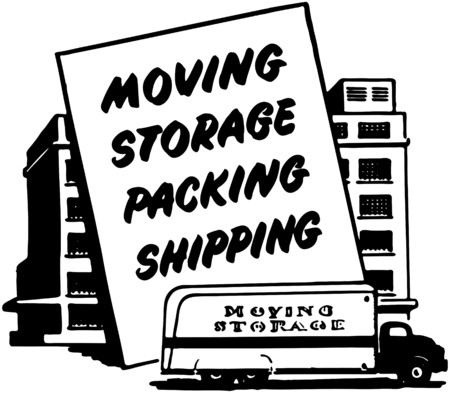 storage: Moving Storage Packing Shipping Illustration