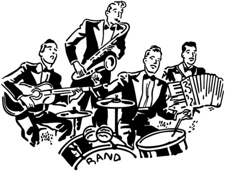 Musical Group Stock Illustratie