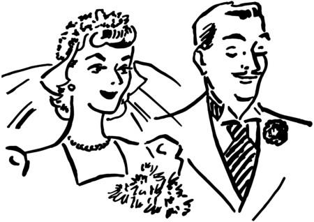 Newlyweds Иллюстрация