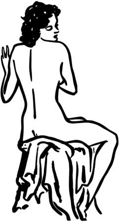 nude model: Nude Model Illustration