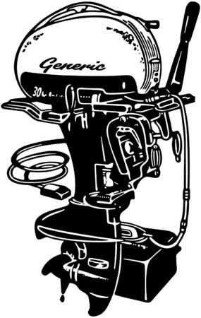 outboard: Outboard Motor 2 Illustration