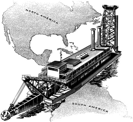 panama: Panama Canal Gate Illustration