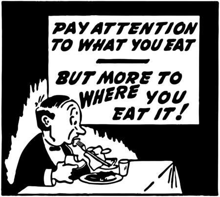 dinners: Pay Attention Illustration