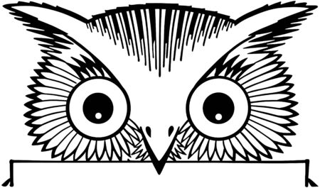 tweets: Peeking Owl Motif Illustration