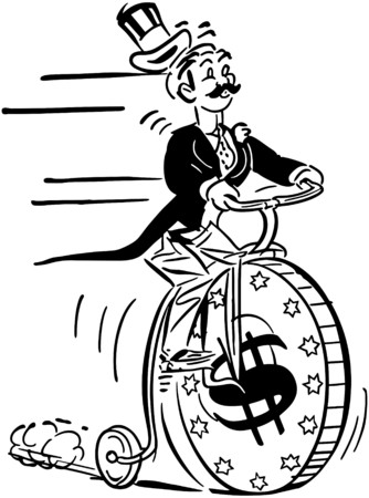 Penny Farthing High Roller Vector