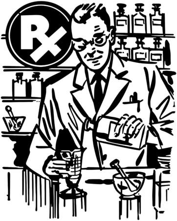 Apotheker Mixing Medicine Stockfoto - 28343436