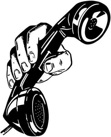 telefon: Telefon W Parze Ilustracja
