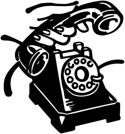Pick Up The Phone Иллюстрация