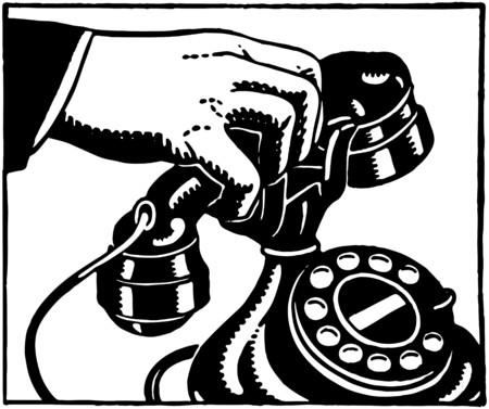 telefon: Pick Up The Phone 2 Ilustracja