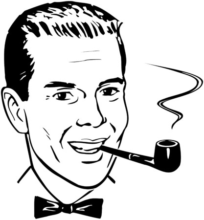 smoking pipe: Pipe Smoking Chap