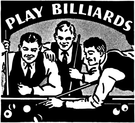 Play Billiards Vector