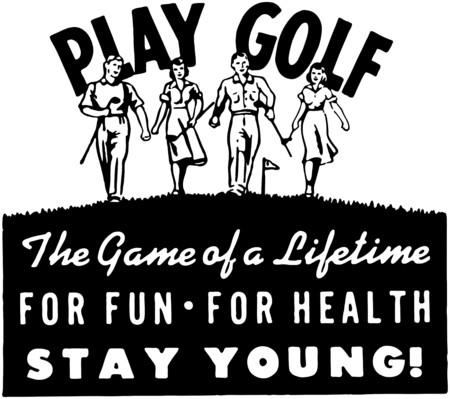 ゴルフ 2  イラスト・ベクター素材