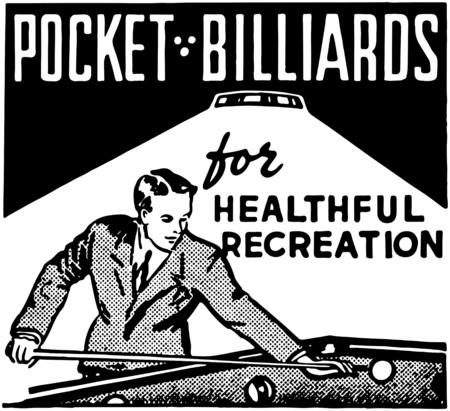 Einsatzzeichen: Pocket-Billard Illustration