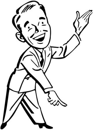 clipart speaker: Pointing Man