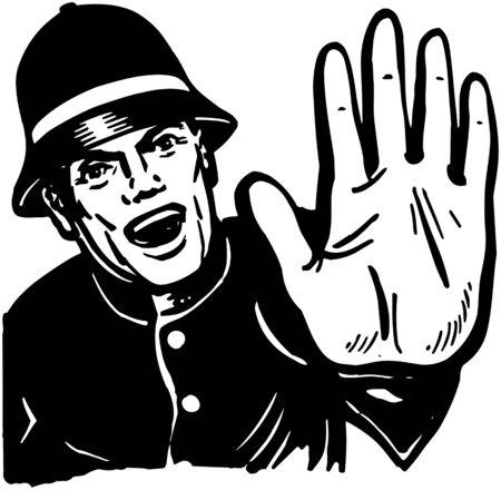 hand beats: Policeman Yelling Stop