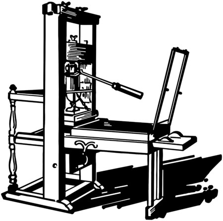 Printing Press Illustration