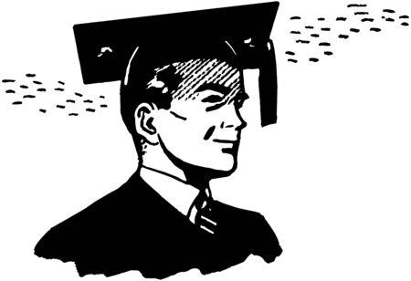 vector clip art: Proud Graduate