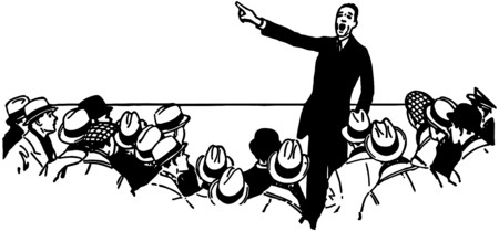orators: Public Speaker Illustration