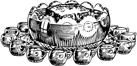 alchoholic drink: Punch Bowl 3 Illustration