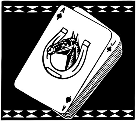 Racehorse Playing Cards Vector