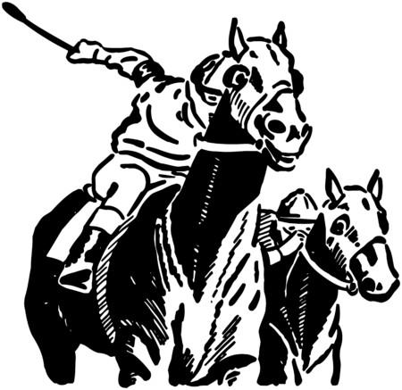 trotando: Caballos de carreras