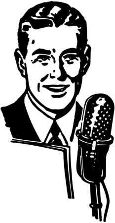 orators: Radio Announcer Illustration